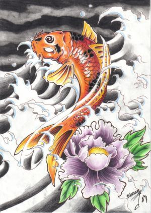 Japanese Koi Fish Tattoo Designs Picture 5