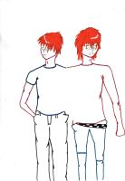 Fred and George by Jintia