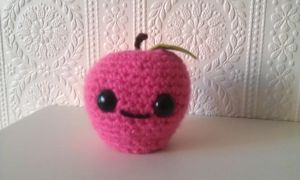 Kawaii Amigurumi Apple by CraftyGeeks