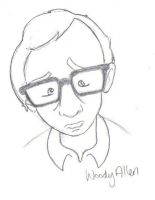 Woody Allen by estranged-illusions