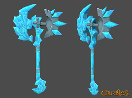 Crystal Axe by Claire-Warren