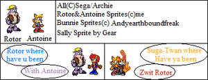Antoine and Rotor Sprites by TailsPrower13