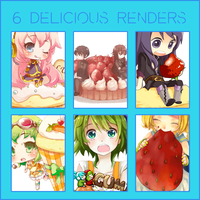 Render Pack: 6 Delicious Renders by HappyFaceStar