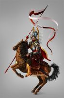 Grayscale to color: paint a Winged Hussar in PS by LadyAway