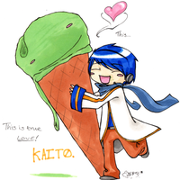 Kaito Loves ICE by Mazilw0lf