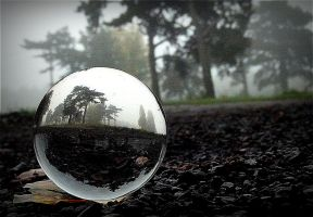 Refraction in crystal ball by April-Mo