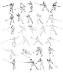 Game of Thrones Spear Poses by TroublingTim