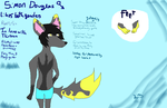 Simon Douglas reference sheet by superbluefox123
