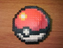 Pokeball Perler by CooltrainerBrooke