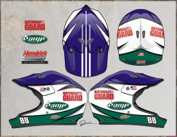 88 Over the wall helmet design by Jenkins-Graphics