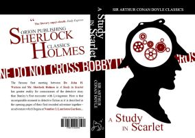 Book Cover - A Study in Scarlet by ShortlockHolmes