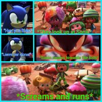 Sonic scares off the racers by Darkmegafan01