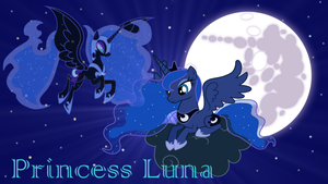 Princess Luna Wallpaper by PrincessMedley13
