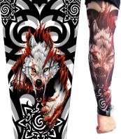 Fierce Wolf Tattoo Sleeves by jianzhi88