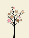 Candy Tree Print by Proudmoon