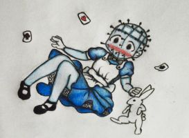 Pinhead in Wonderland by AlexAngelPrince