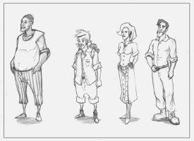 Character lineup for a comic by rastafic