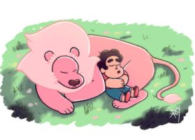 Steven And Lion by M0cha-5tuff