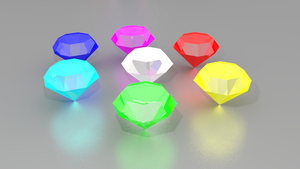 Chaos Emeralds again? by Adreos