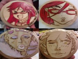 Born This Way Anime and Video Game Coasters by cutiechibi