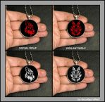 Social Wolf and Vigilant Wolf in Red or White Now! by GoodSpiritWolf