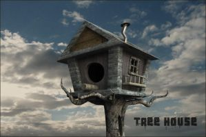 Tree house bird house by vozzz