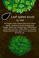 Ovate leaf speed brush set by VN0