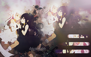 Wallpaper Anime Girls Black Buraku by Nagamii-Chan
