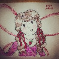 Napkin Art 127 - Cherry the Cake Fairy - Rainbow by PeterParkerPA