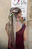 Braid with dreads - custom made by Psycho Lily by PsychoLilyDreads