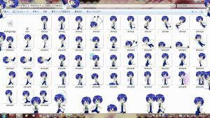 [Project DIVA F] KAITO Genius Style- Shimeji by LightAppend