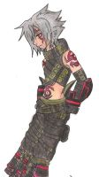 Haseo coloured pencil version by kyohda
