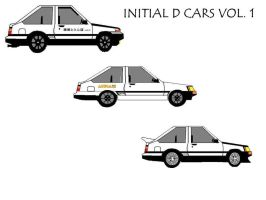 Initial D Cars Volume 1 by pete7868