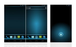 Lines and Glows - Android 4.0 by Hink-Prod