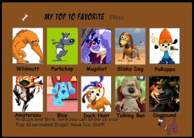 My top ten favorite dogs by Porygon2z
