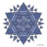 Mandala drawing 51 coloured v2 by Mandala-Jim