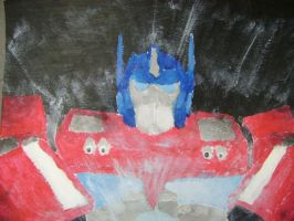 Optimus Prime Painting by King-Hauken