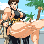 chunli's new costume by RENtb
