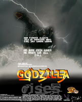 Godzilla rises official movie poster by randomcharacterspace