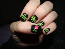 Heart Beats Nail Art by whosherlokid