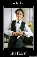 Orlando Bloom as Butler by CABARETdelDIAVOLO