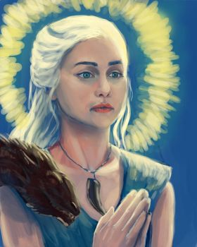 Daenerys Mother of Dragons by Flonography