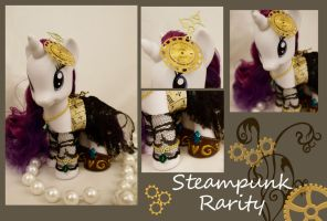 Steampunk Rarity Fashion Pony by bluepaws21