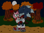 Halloween Spoopy Time by XStar-The-HedgehogX