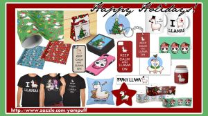 Happy Holidays on Zazzle by YamPuff