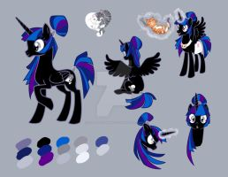 Midnight Kit-Kut (Ponysona For HaroGirl) by SapphireGamgee
