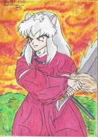 Inuyasha Watercolor by Iziume89