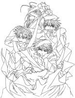 Group 2 Lineart by CursedSnail