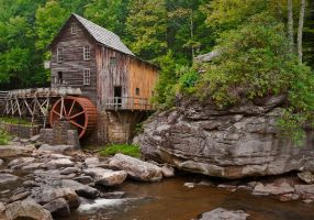 Babcock State Park: Grist Mill by LAlight