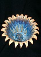 blooming flower ceramic bowl by thebigduluth